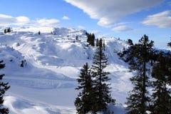 Arlberg. Skiing Region Arlberg. Vorarlberg. Austria Stock Photography