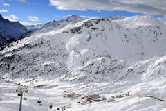 Arlberg. Skiing Region Arlberg. Vorarlberg. Austria Stock Photo