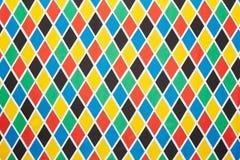 Arlekiński kolorowy diamentu wzoru tło Obraz Royalty Free