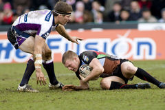 arlekinów ligowa Melbourne rgl rugby burza vs obraz stock
