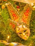 Arlequín veneciano de la máscara fotos de archivo