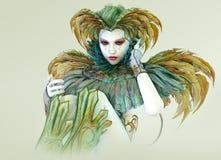 Arlequim colorido, 3d CG Imagem de Stock