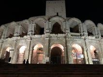 Arles' colosseums fotografering för bildbyråer