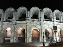 Arles' colosseums stock image