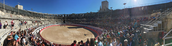 Arles Amphitheatre panorama, France Stock Images
