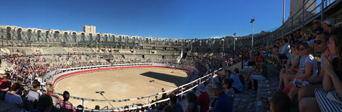 Arles Amphitheatre panorama, France Royalty Free Stock Images