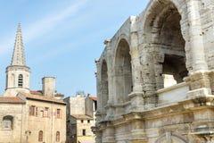 Arles. (Bouches-du-Rhone, Provence-Alpes-Cote d'Azur, France) - Les Arenes, the Roman Amphitheatre Stock Photography