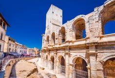 Arles, das Amphiteatre - Frankreich lizenzfreie stockfotos