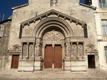 Arles - die Kirche von Str. Trophime Stockfoto