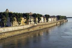 Arles e o rio imagens de stock