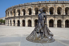 Arles, France - July 15, 2013: Roman Arena (Amphitheater) in Arl Stock Photos