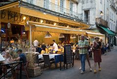 Cafe Van Gogh at Place du Forum in Arles. Provence, France. Arles, France - June 24, 2017: Cafe Van Gogh at Place du Forum in Arles. Provence, France Royalty Free Stock Photos