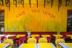 Cafe Van Gogh at Place du Forum in Arles stock photos