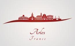 Arles linia horyzontu w czerwieni Zdjęcia Stock