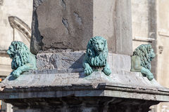 Arles Lions Obelisk Provence France Stock Photo