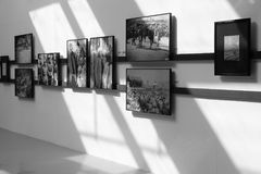Arles photography exhibition, black and white image. Arles international photography festival was held in the public square exhibition hall of jimei new town Royalty Free Stock Photos