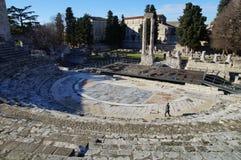 Arles Roman Theatre - UNESCO-Welterbe lizenzfreie stockfotos