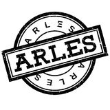Arles rubber stamp. Grunge design with dust scratches. Effects can be easily removed for a clean, crisp look. Color is easily changed Royalty Free Stock Image