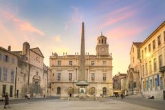 Arles Town Hall, France royalty free stock photo