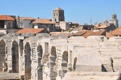 Arles, turystyczny miejsce przeznaczenia w Francja fotografia stock
