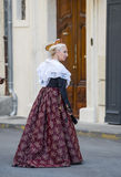 Arles, woman with traditional costume Royalty Free Stock Photo