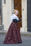 Arles, woman with traditional costume Stock Photography