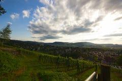 Arlesheim和Dornach的全景 库存照片