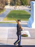 Arlington ändring av vakten arkivfoton