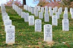 arlington εθνικές ταφόπετρες νεκροταφείων Στοκ εικόνες με δικαίωμα ελεύθερης χρήσης