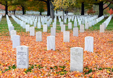 arlington εθνικές ταφόπετρες νεκροταφείων Στοκ φωτογραφίες με δικαίωμα ελεύθερης χρήσης