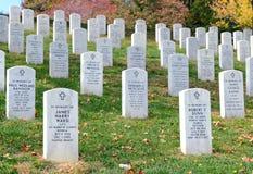 arlington εθνικές ταφόπετρες νεκροταφείων Στοκ Φωτογραφίες
