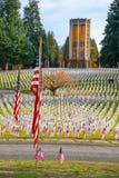 Arlington av den västra veteranminnesmärkekyrkogården Royaltyfria Bilder