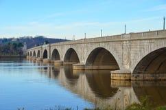 arlington bridżowy dc pomnik usa Washington zdjęcia stock