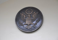 Arlington Cemetery,August 5th:Arlington National Cemetery Seal from Virginia Stock Image