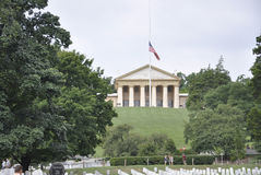 Arlington Cemetery,August 5th:House General Robert Lee House Arlington National Cemetery in Virginia Stock Photography