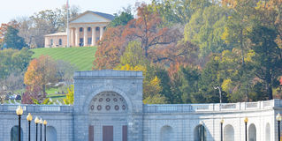 Arlington Cemetery in Autumn near to Washington DC USA Stock Images