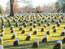 The Arlington Cemetery Decorated Stock Images