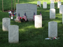 Arlington Cemetery Gravestones Stock Image