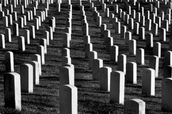 Arlington cemetery with Gravestones Stock Photos