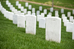 Arlington cemetery graveyard Royalty Free Stock Photos