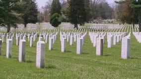 Arlington cemetery - medium shot stock footage