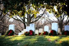 Arlington cemetery. Sunny day at Arlington cemetery Royalty Free Stock Photos