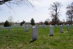 Arlington Cemetery tombstones Royalty Free Stock Photography