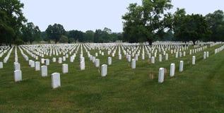 Arlington Cemetery in Washington DC. Graves in Arlington Cemetery with flags on them in Washington DC Royalty Free Stock Photos