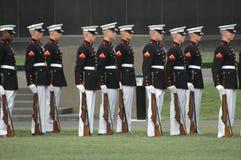 arlington ceremoniIwo Jima kriger den minnes- solnedgången Royaltyfri Bild
