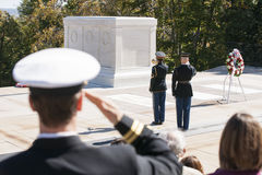 Arlington changing of the guard. Stock Photography