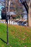 arlington cmentarniany gravestone Kennedy znak obraz royalty free