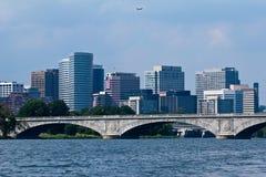Arlington au-dessus du pont de Francis Scott Key Images libres de droits