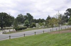 Arlington-Kirchhof, am 5. August: Friedhof Arlington-nationalen Friedhofs von Virginia stockbilder
