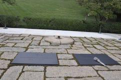 Arlington-Kirchhof, am 5. August: Grab Präsidenten Kennedy Arlington-nationalen Friedhofs von Virginia stockbild